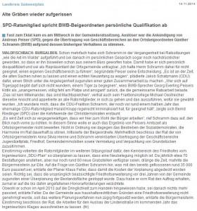 2014-11-14 PZ Artikel - Alte Graeben wieder aufgerissen